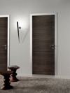 Bi-System Hinged Door with Aluminium, Stainless Steel or Matching Oak
