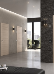 Modern Flush to Push Fire Doors