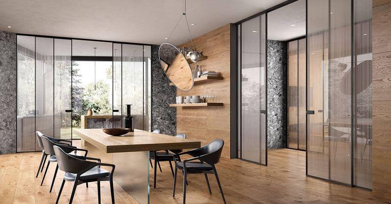 MINIA & BLADE Glass In Ceiling Sliding Doors